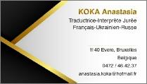 Anastasia Koka, sworn translator in French, Russian and Ukrainain in Brussels